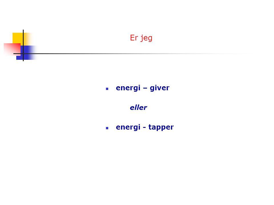 Er jeg energi – giver eller energi - tapper