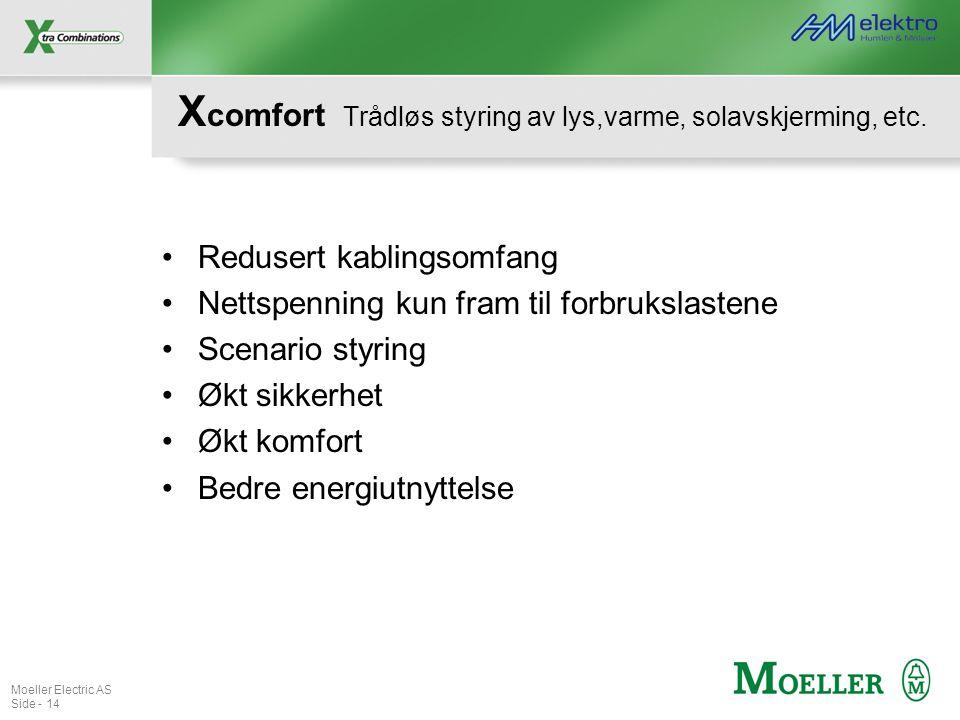 Xcomfort Trådløs styring av lys,varme, solavskjerming, etc.