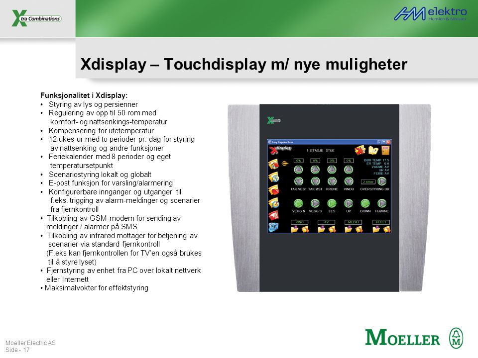 Xdisplay – Touchdisplay m/ nye muligheter