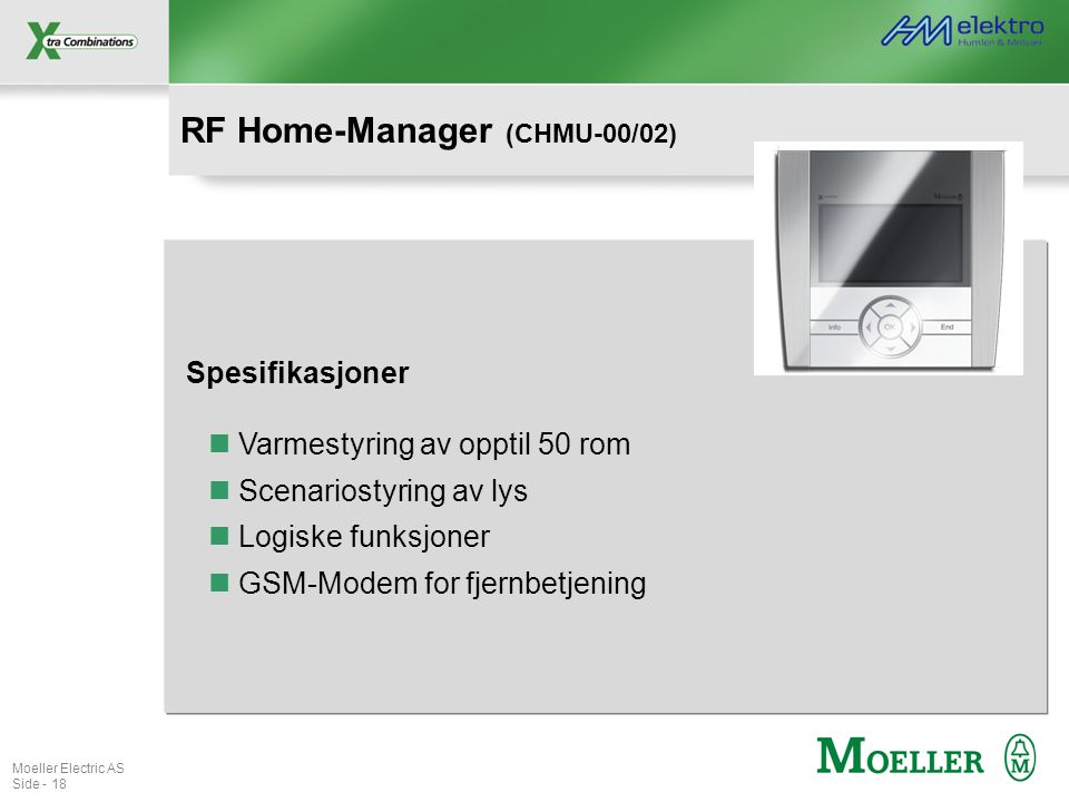 RF Home-Manager (CHMU-00/02)