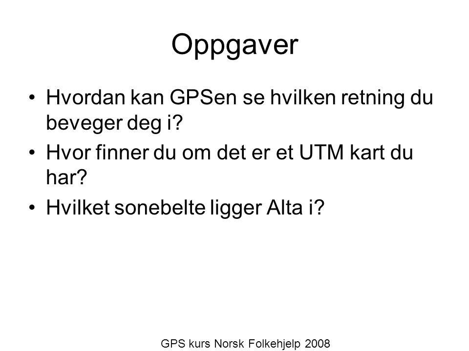 GPS kurs Norsk Folkehjelp 2008
