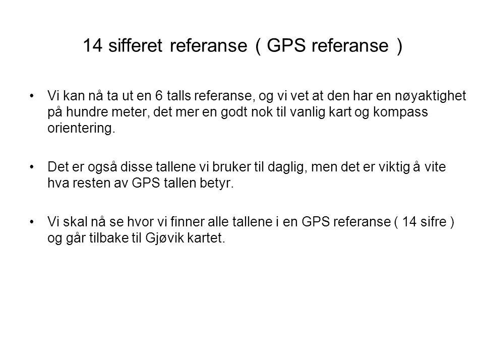 14 sifferet referanse ( GPS referanse )
