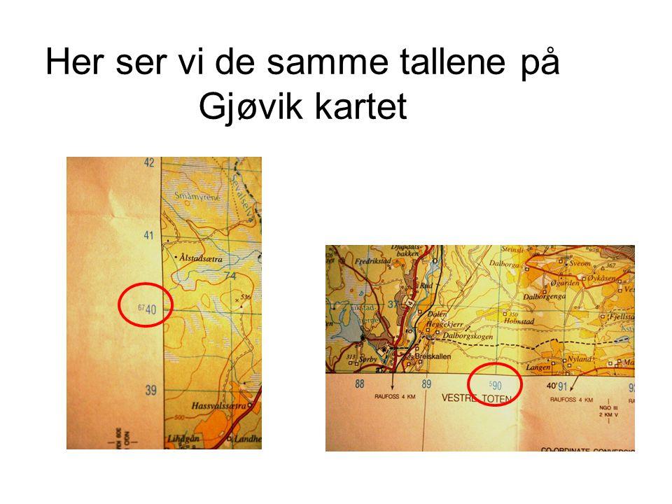 Her ser vi de samme tallene på Gjøvik kartet