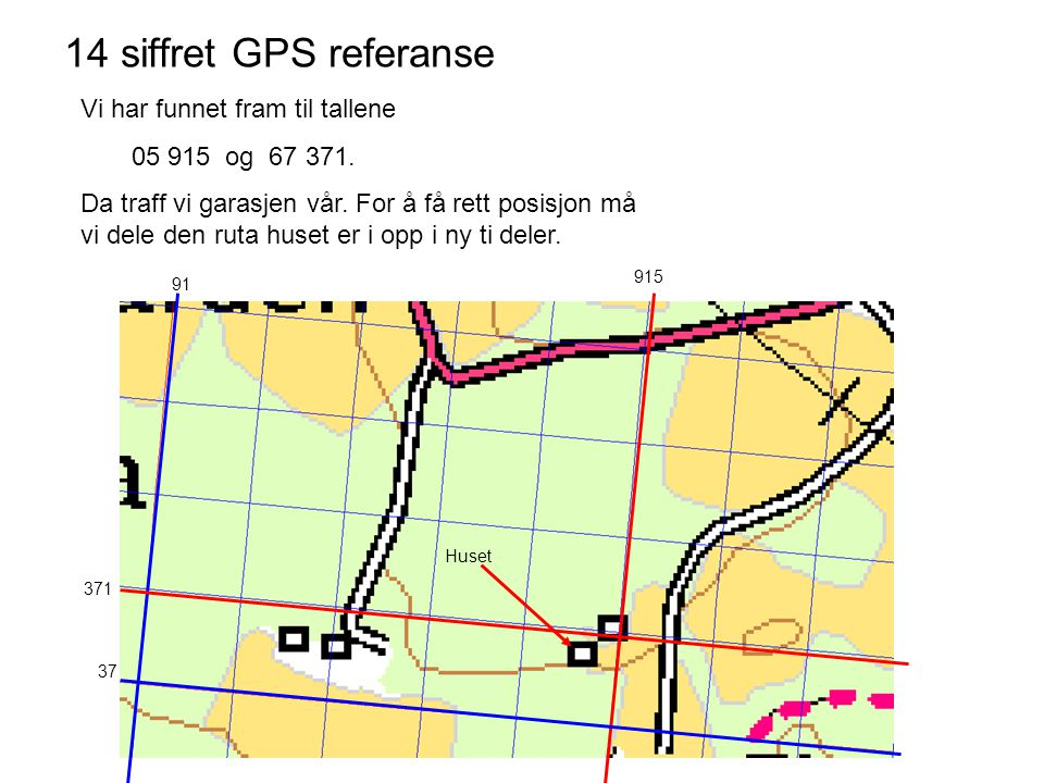 14 siffret GPS referanse Vi har funnet fram til tallene