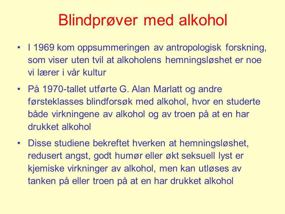 Blindprøver med alkohol