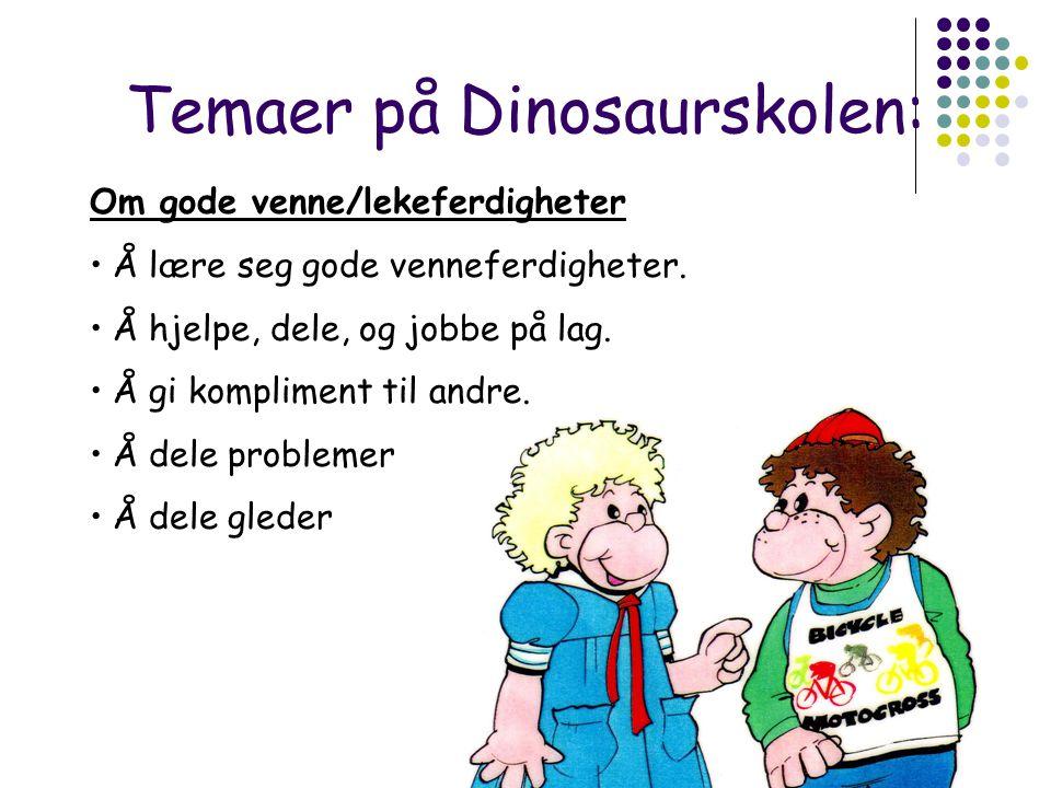 Temaer på Dinosaurskolen: