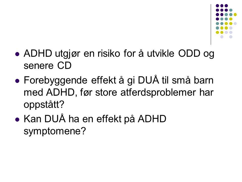 ADHD utgjør en risiko for å utvikle ODD og senere CD