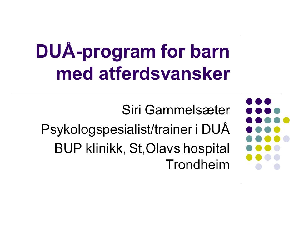 DUÅ-program for barn med atferdsvansker
