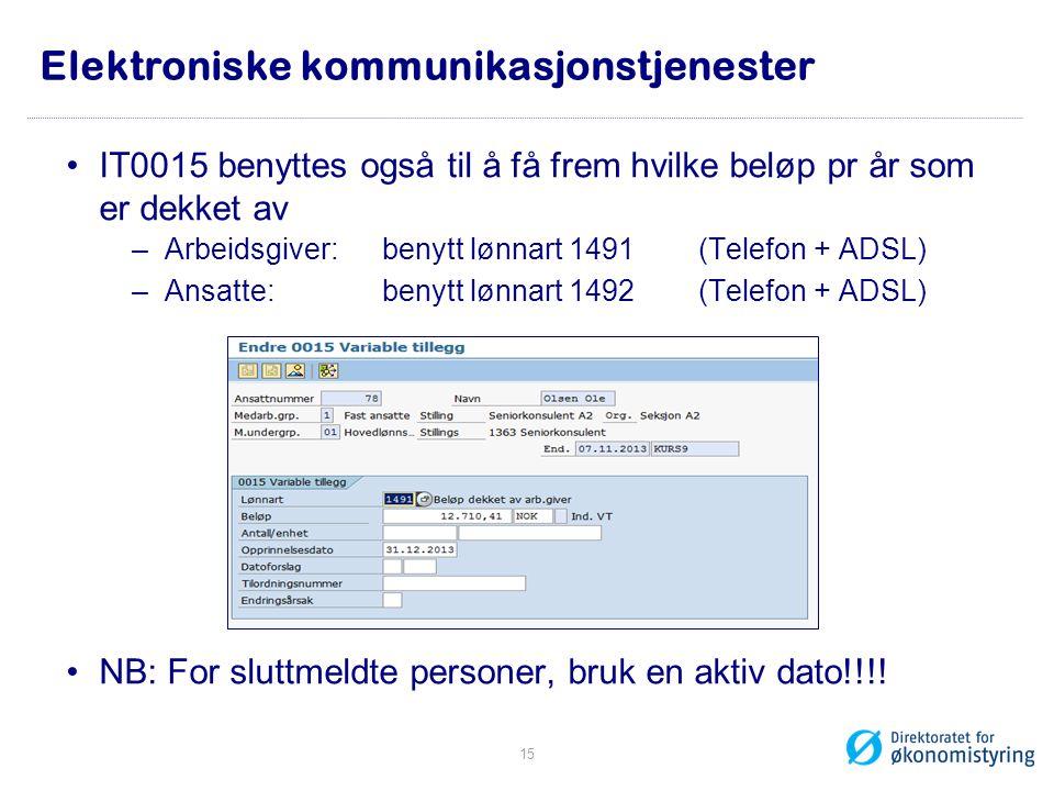 Elektroniske kommunikasjonstjenester