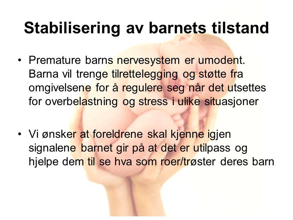 Stabilisering av barnets tilstand