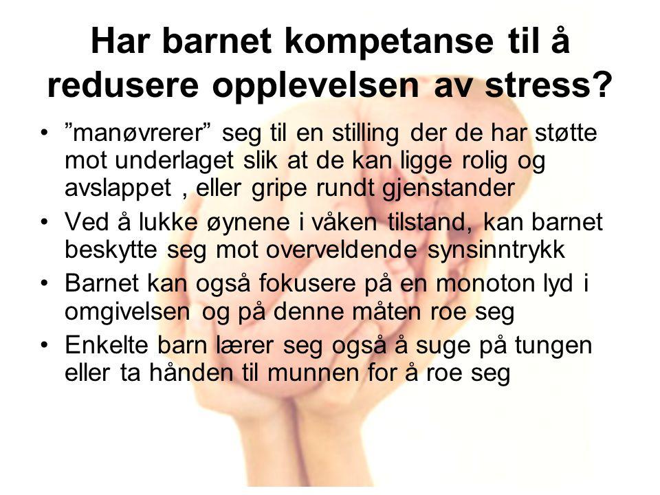 Har barnet kompetanse til å redusere opplevelsen av stress