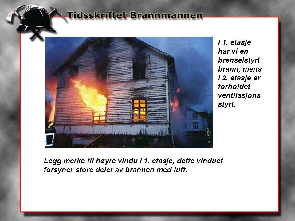 I 1. etasje har vi en brenselstyrt brann, mens i 2