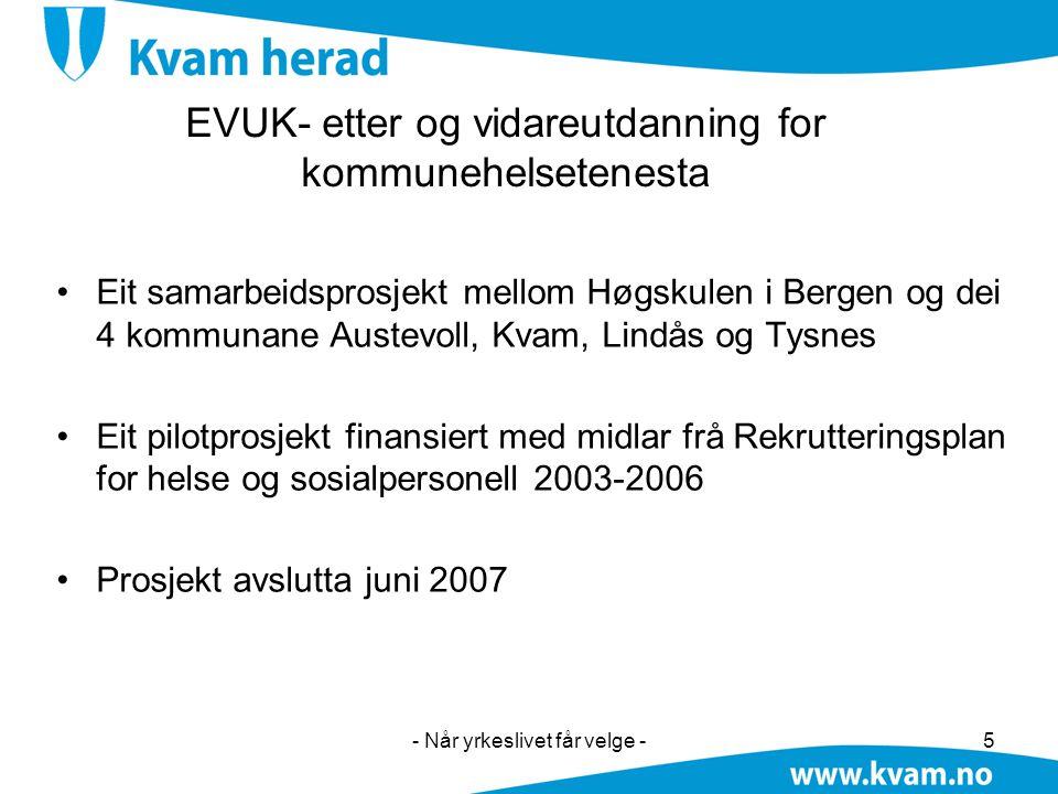 EVUK- etter og vidareutdanning for kommunehelsetenesta
