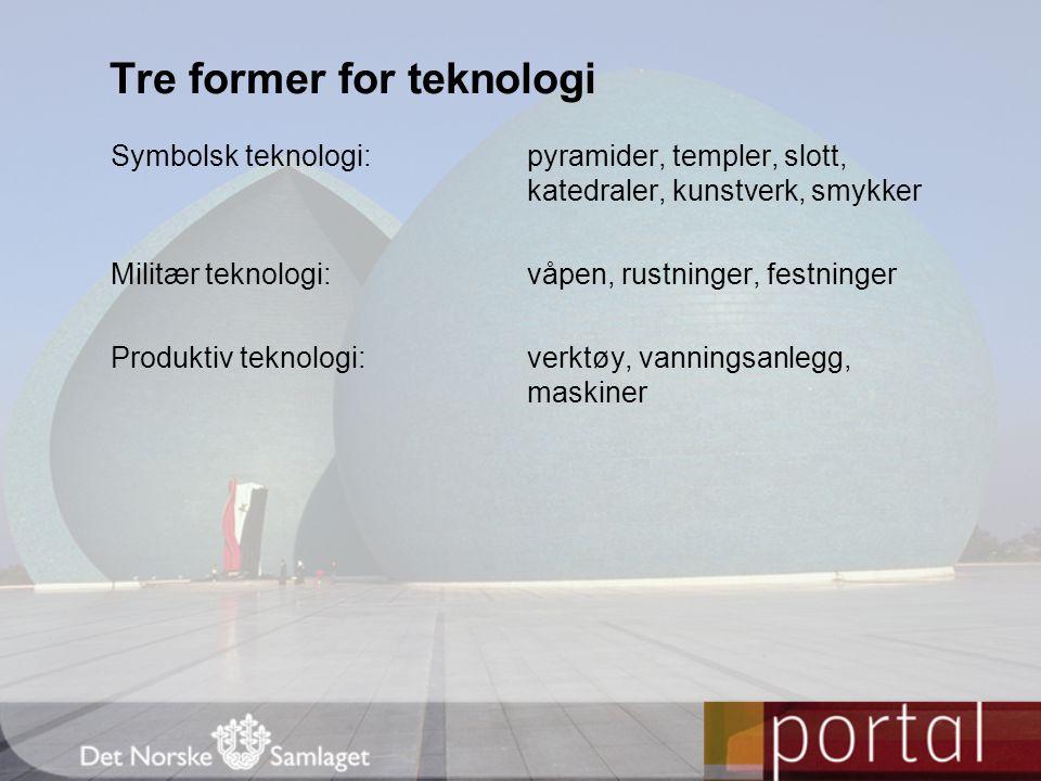 Tre former for teknologi