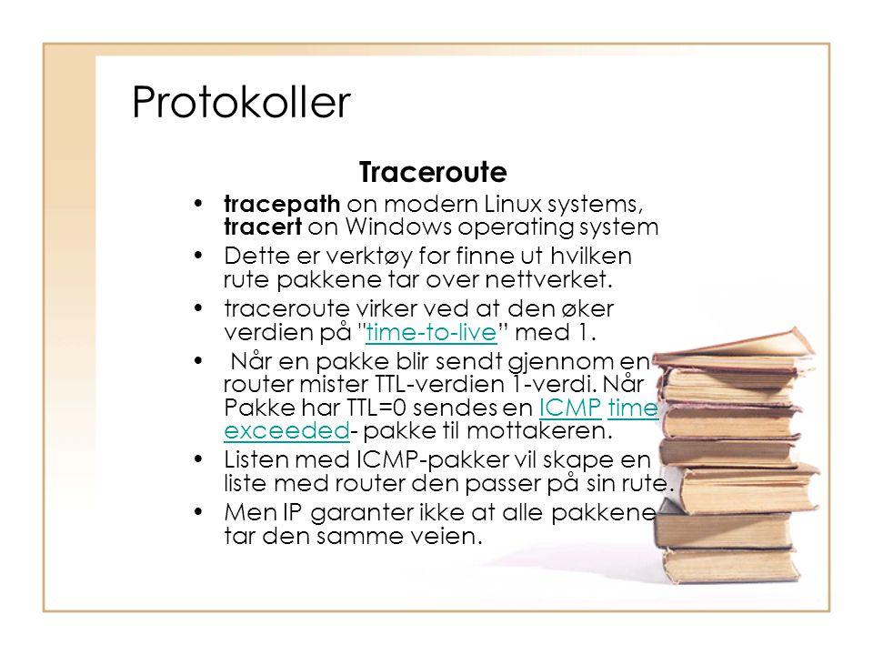 Protokoller Traceroute