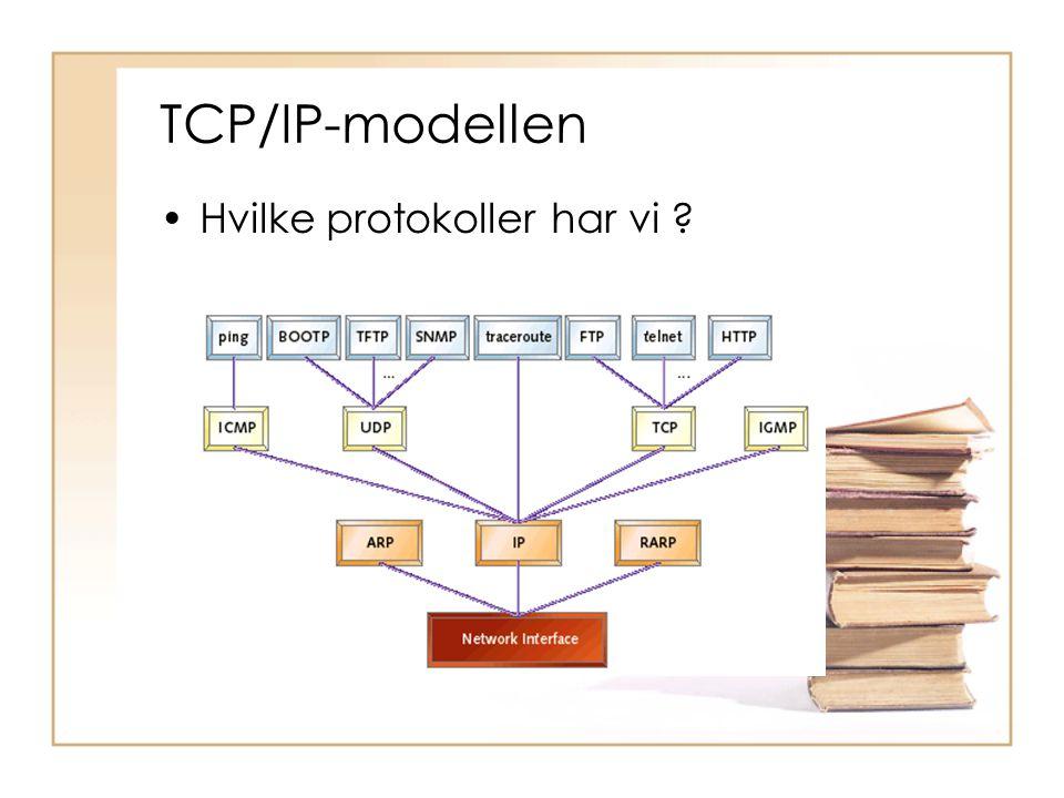 TCP/IP-modellen Hvilke protokoller har vi