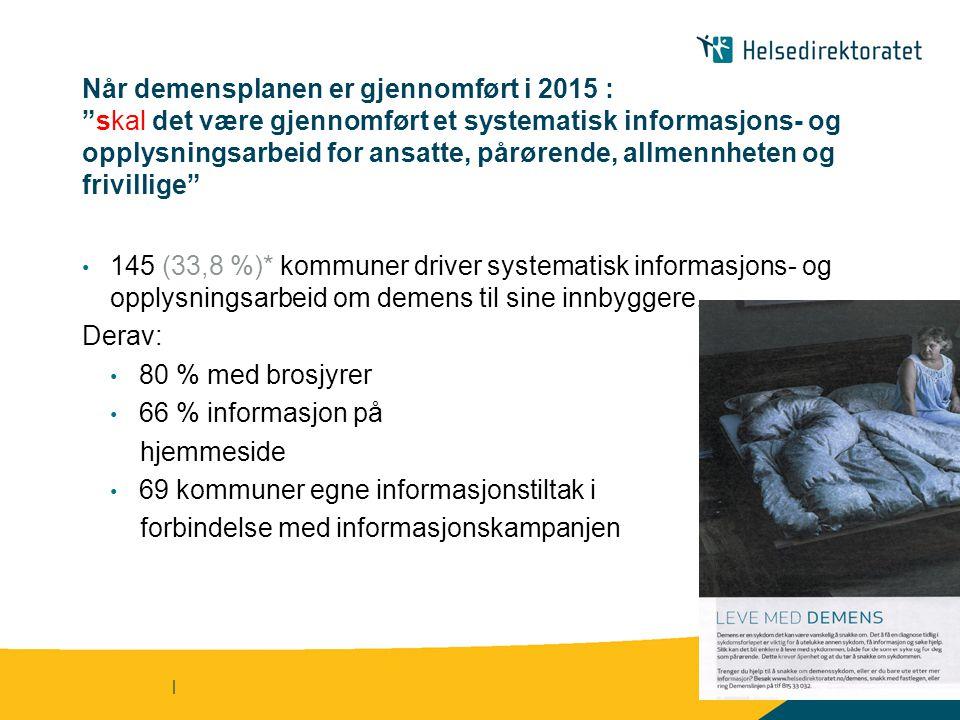 69 kommuner egne informasjonstiltak i