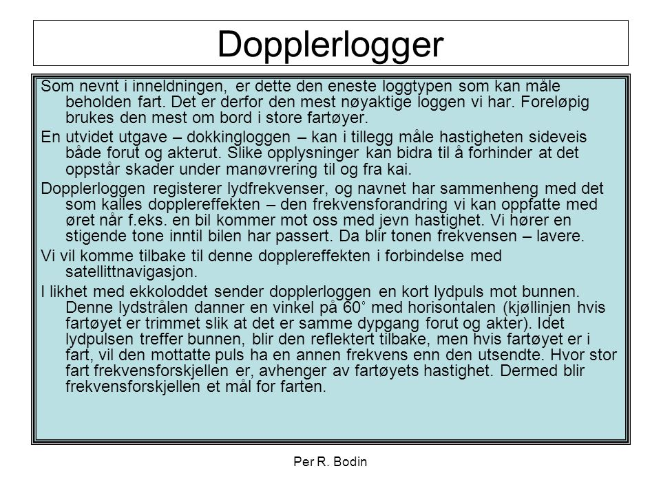 Dopplerlogger