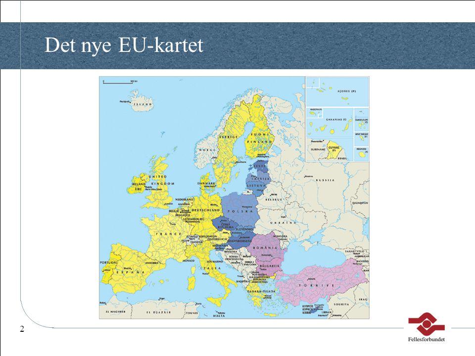 Det nye EU-kartet