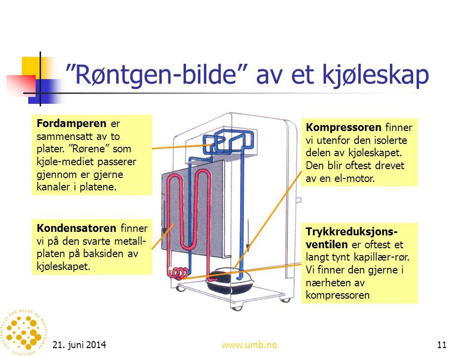 Røntgen-bilde av et kjøleskap