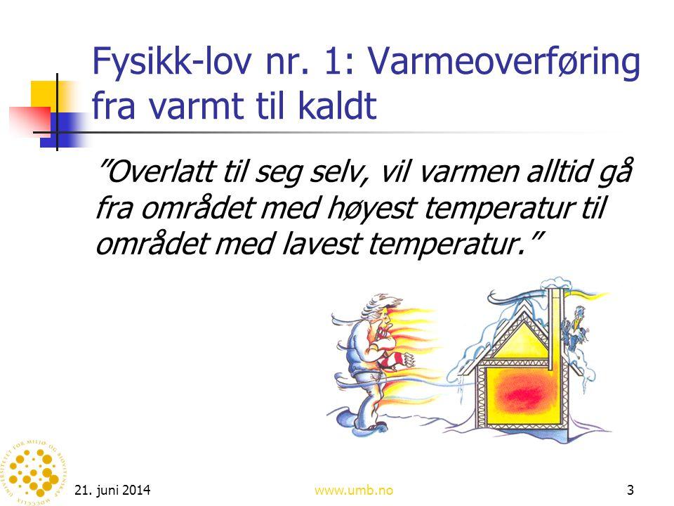 Fysikk-lov nr. 1: Varmeoverføring fra varmt til kaldt