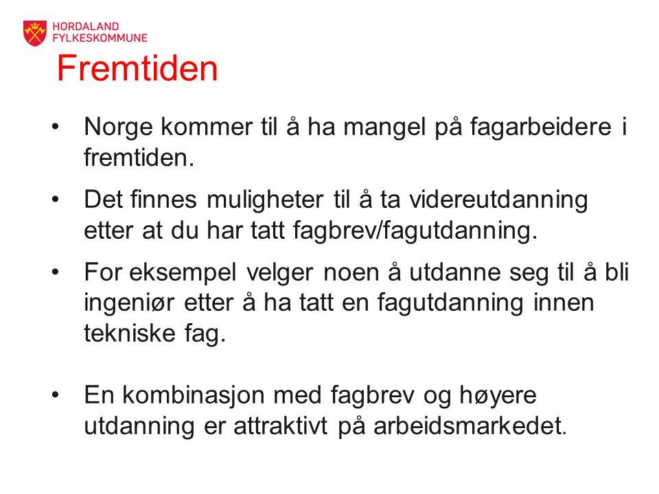Fremtiden Norge kommer til å ha mangel på fagarbeidere i fremtiden.
