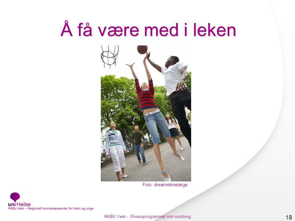 RKBU Vest - Olweusprogrammet mot mobbing