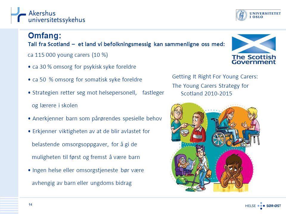 Omfang: Tall fra Scotland – et land vi befolkningsmessig kan sammenligne oss med: