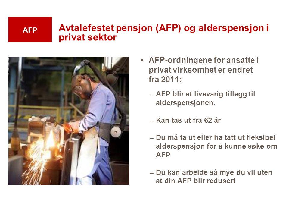Avtalefestet pensjon (AFP) og alderspensjon i privat sektor