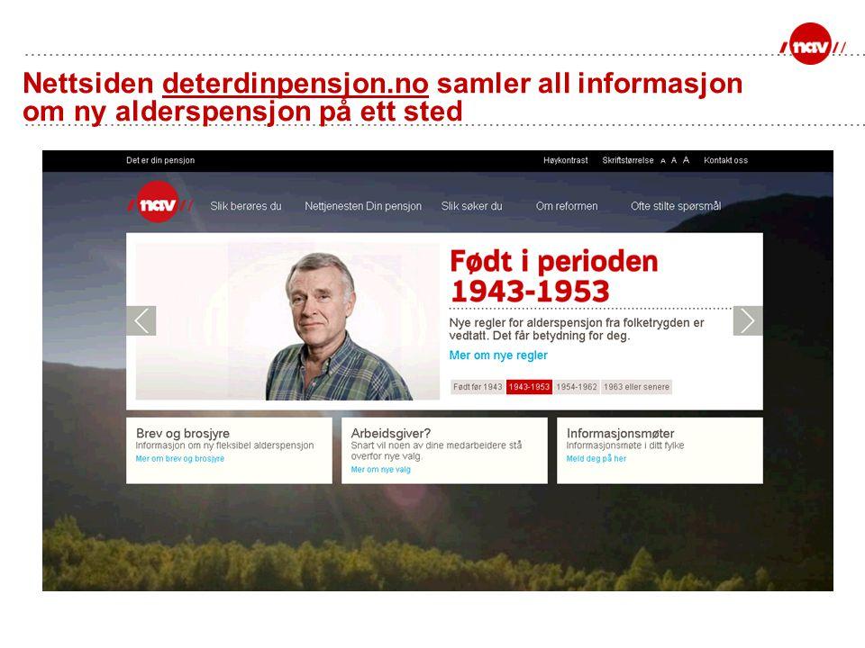 Nettsiden deterdinpensjon