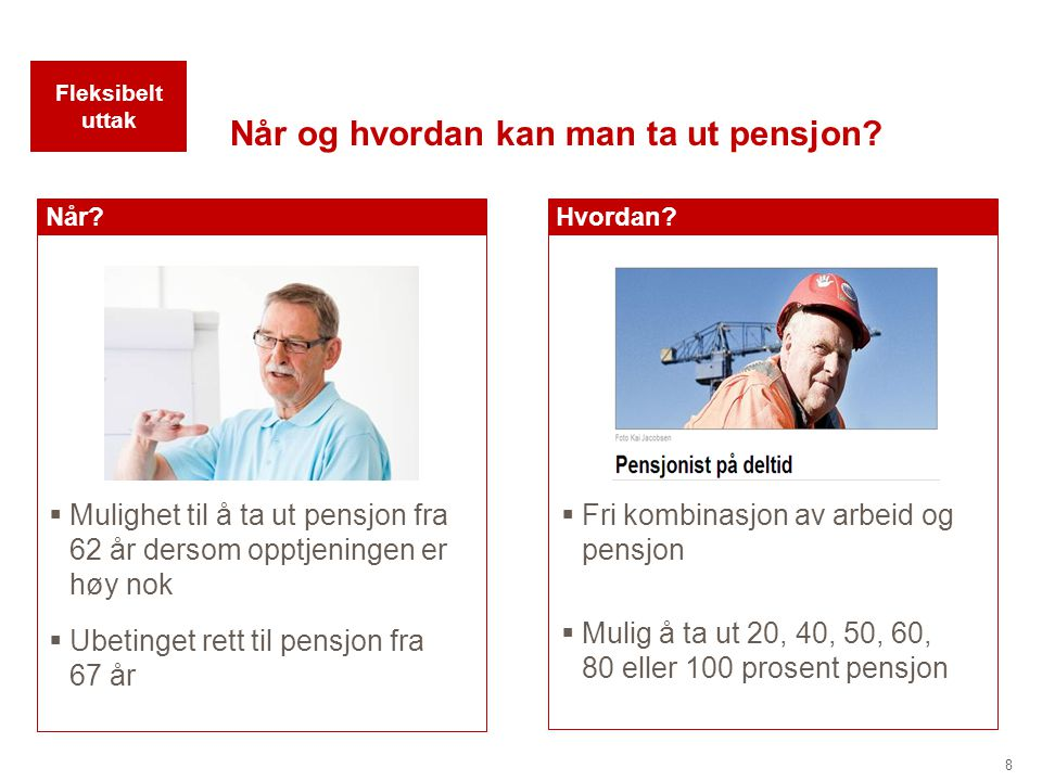 Når og hvordan kan man ta ut pensjon