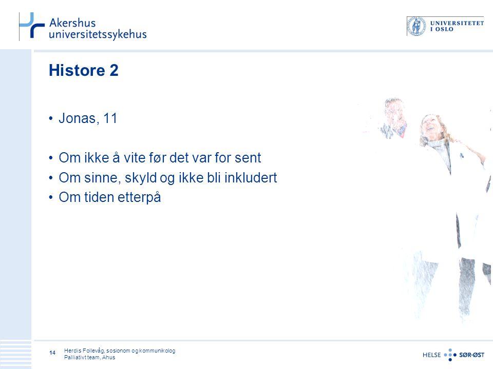 Histore 2 Jonas, 11 Om ikke å vite før det var for sent
