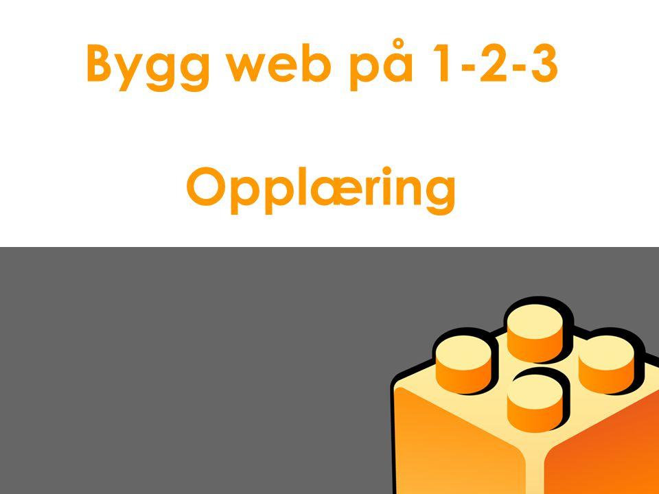 Bygg web på 1-2-3 Opplæring