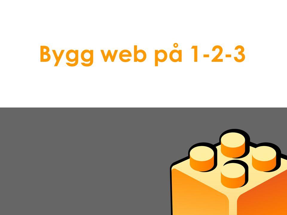 Bygg web på 1-2-3 Presentasjon Idium AS