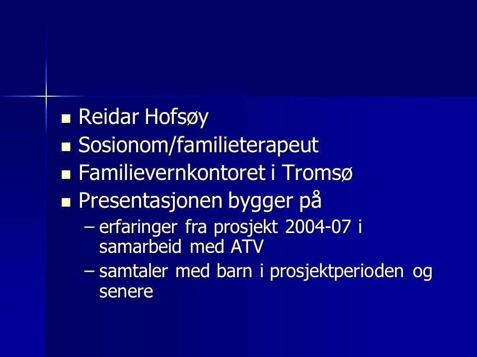 Sosionom/familieterapeut Familievernkontoret i Tromsø