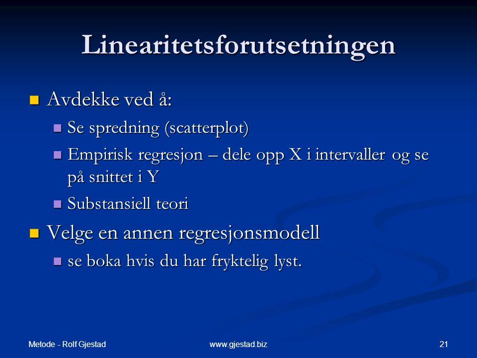 Linearitetsforutsetningen