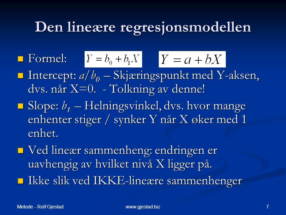 Den lineære regresjonsmodellen