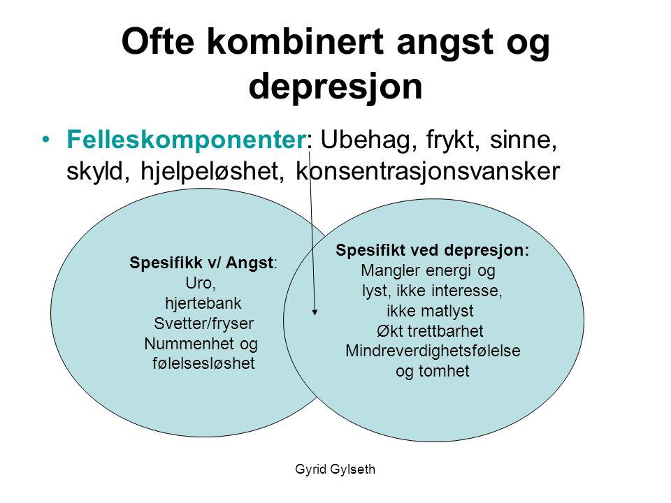 Ofte kombinert angst og depresjon