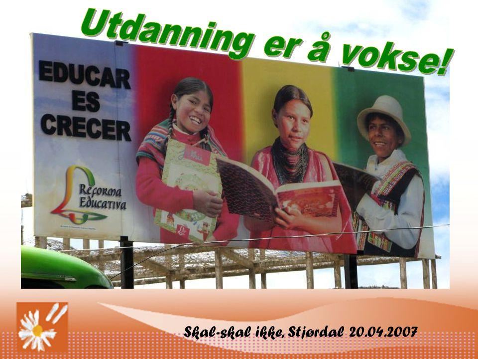 Utdanning er å vokse! Skal-skal ikke, Stjørdal 20.04.2007
