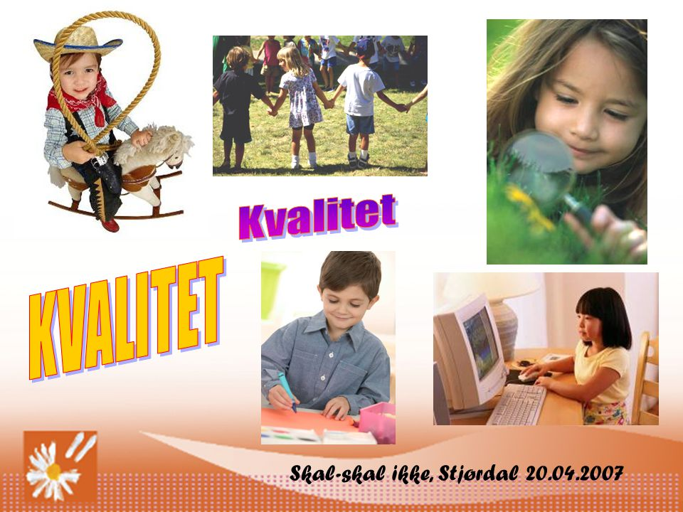 Kvalitet KVALITET Skal-skal ikke, Stjørdal 20.04.2007