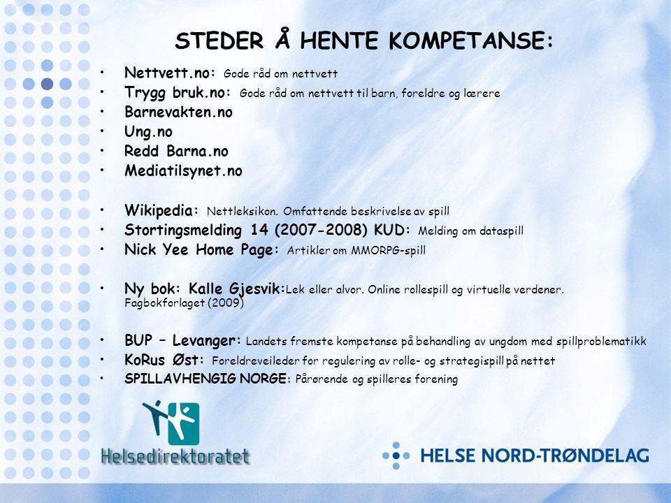 STEDER Å HENTE KOMPETANSE: