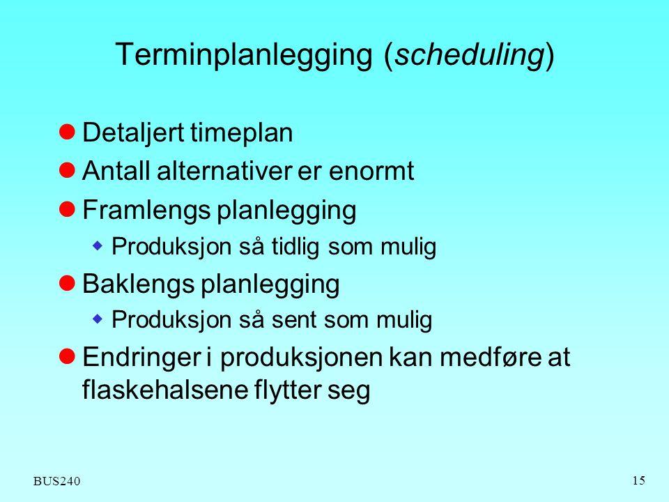 Terminplanlegging (scheduling)