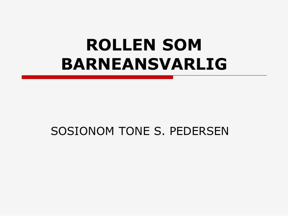 ROLLEN SOM BARNEANSVARLIG