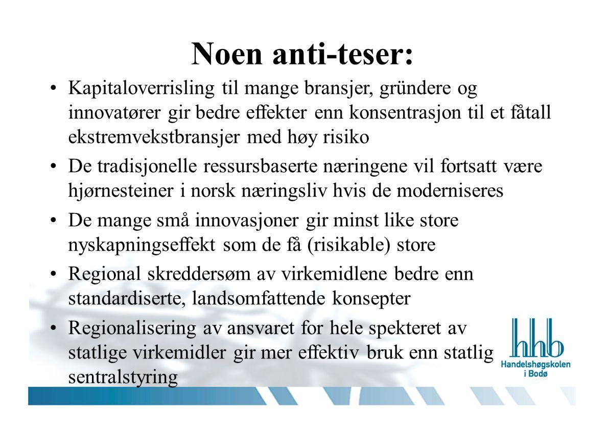 Noen anti-teser: