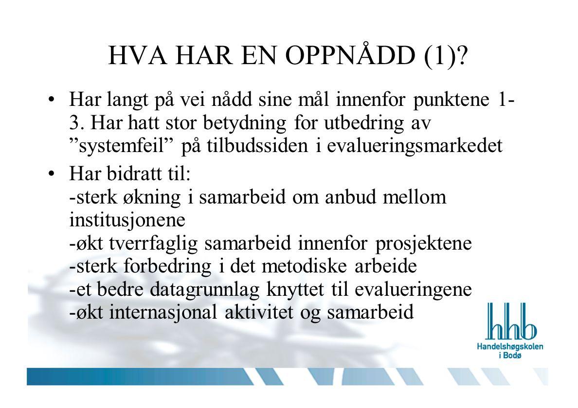 HVA HAR EN OPPNÅDD (1)