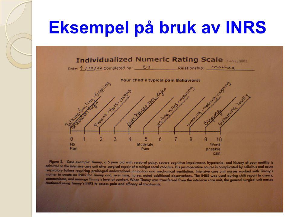 Eksempel på bruk av INRS