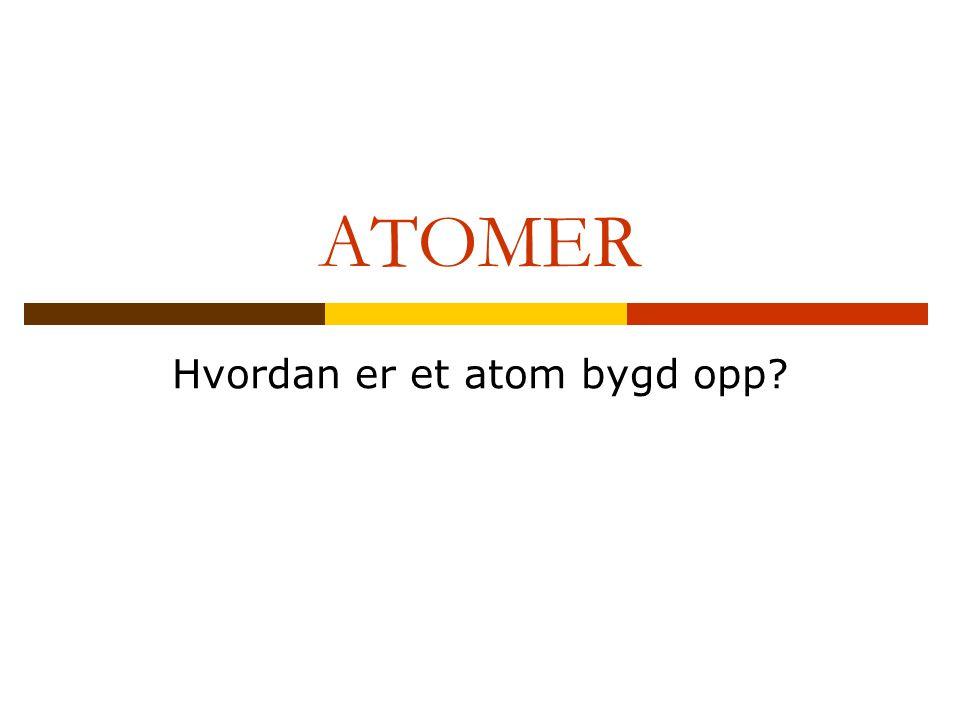 Hvordan er et atom bygd opp