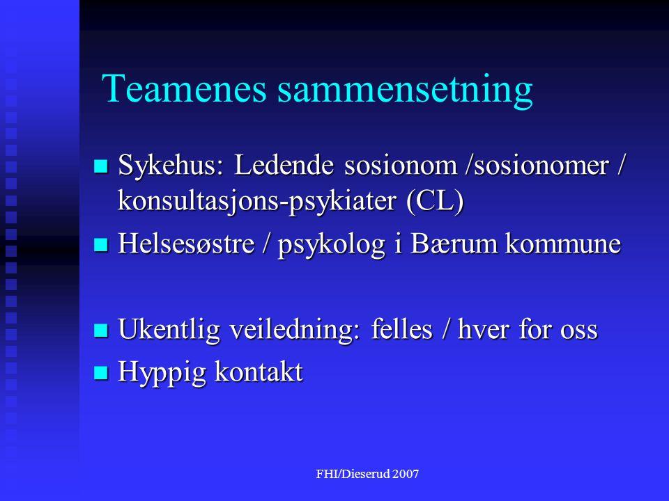 Teamenes sammensetning