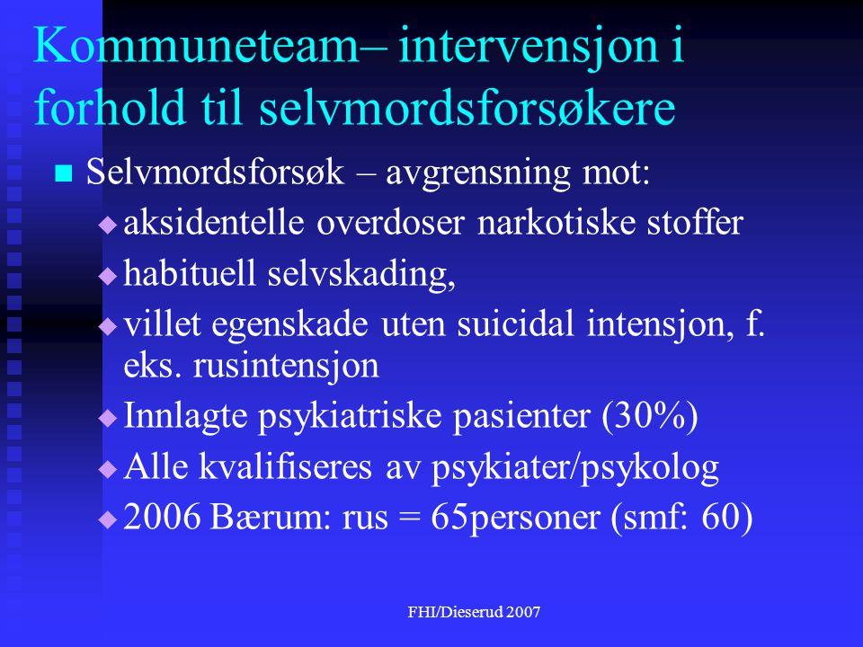 Kommuneteam– intervensjon i forhold til selvmordsforsøkere