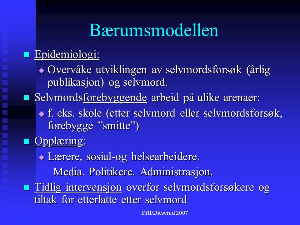 Bærumsmodellen Epidemiologi: